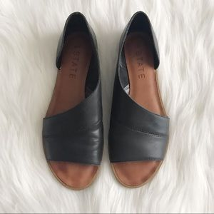 1. STATE Celvin d'Orsay Leather Open Toe Flats
